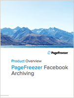 PageFreezer for Facebook Archiving